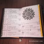 Jan 16-22 in my Mandala (BuJo) Journal…..