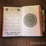 2017 Opening Spread in my Mandala (BuJo) Journal…..
