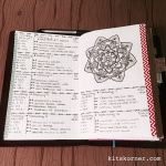 Feb 6-12 in my Mandala (BuJo) Journal…..