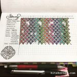 February Habit Tracker in my Mandala (BuJo) Journal…..