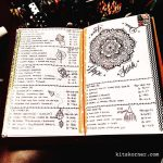Mar 20-26 in my Mandala (BuJo) Journal…..