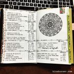 Mar 13-Mar 19 in my Mandala (BuJo) Journal…..