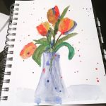 Loose Watercolor Tulips…..