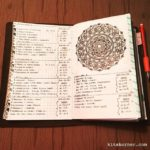 Apr 3-9 in my Mandala (BuJo) Journal…..
