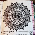 Apr 10-16 – Mandala BuJo Closeup…