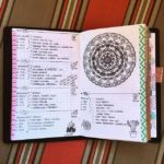 Apr 17-21 in my Mandala (BuJo) Journal…..