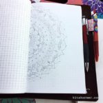 Travel mandala in my travel journal.. pencil first people lol…