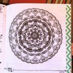 Apr 17-21 – Mandala BuJo Closeup…