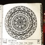 Apr 22-27 – Mandala BuJo Closeup…