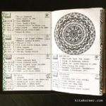 Apr 22-27 in my Mandala (BuJo) Journal…..