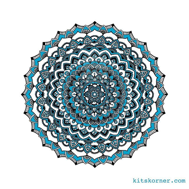 Memorial Day Mandala.. Digital drawing one stroke at a time….