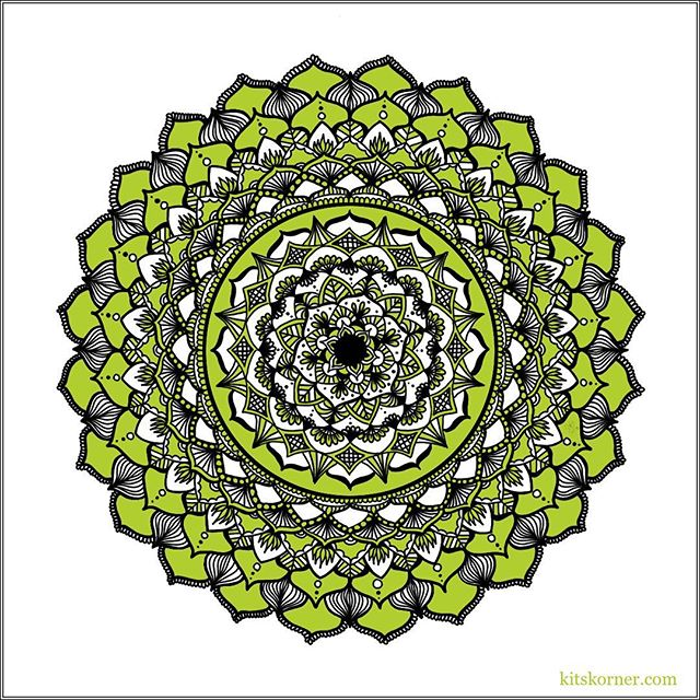 Drawn during our trip to Tulsa, OK. T-Town Twist Mandala…