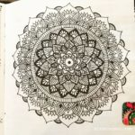Jun 4-10 – Mandala BuJo Closeup…