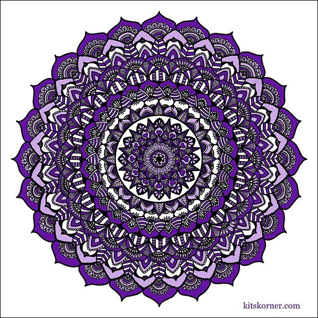 Started at Borderline seeing Aunt Rosemary..Title – Borderline Rose Mandala…