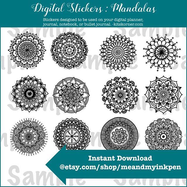 New on Etsy : Digital Mandala Stickers