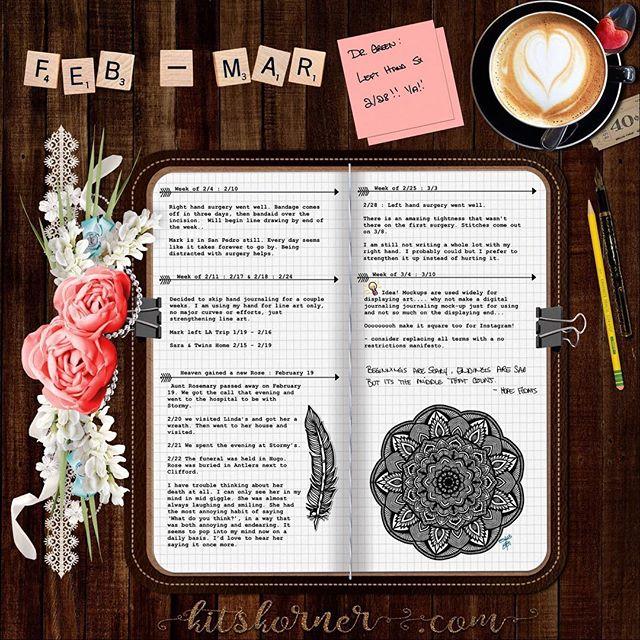 Feb 3-Mar 10 in my Digital Bullet Journal..