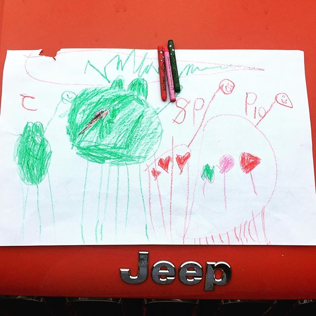 Met a young artist after dinner Sunday and she gifted me her adorable drawing! #
