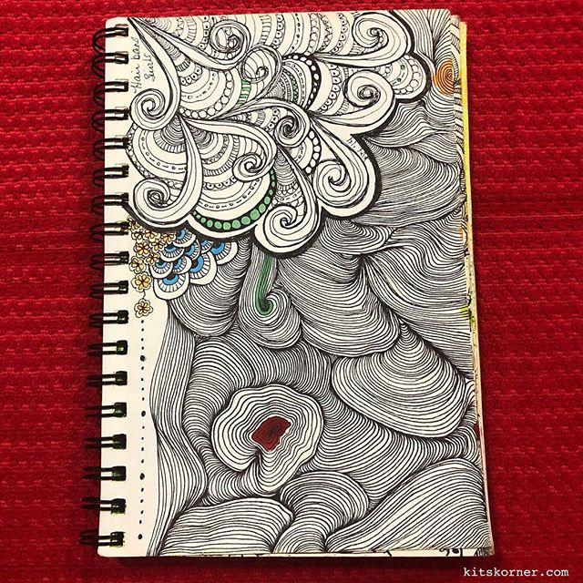 TBT : 2014 Sketchbook Zentagle Doodles 1/1/2014