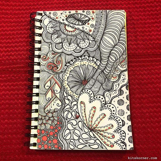 TBT : 2014 Sketchbook Zentagle Doodles 1/2/14