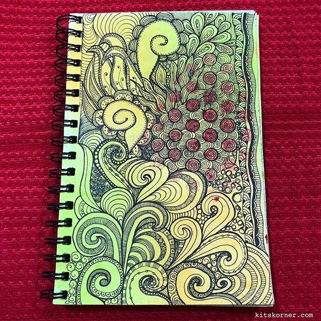 TBT : 2014 Sketchbook Zentagle Doodles 1/3/2014