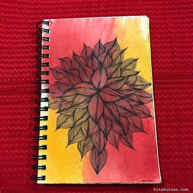 TBT : 2014 Sketchbook Zentagle Doodles 1/18/2014