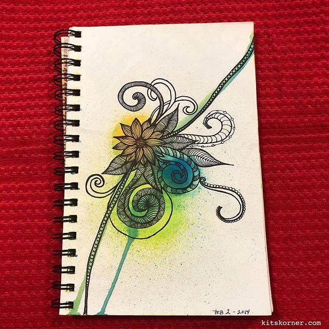 TBT : 2014 Sketchbook Zentagle Doodles 2/2/2014