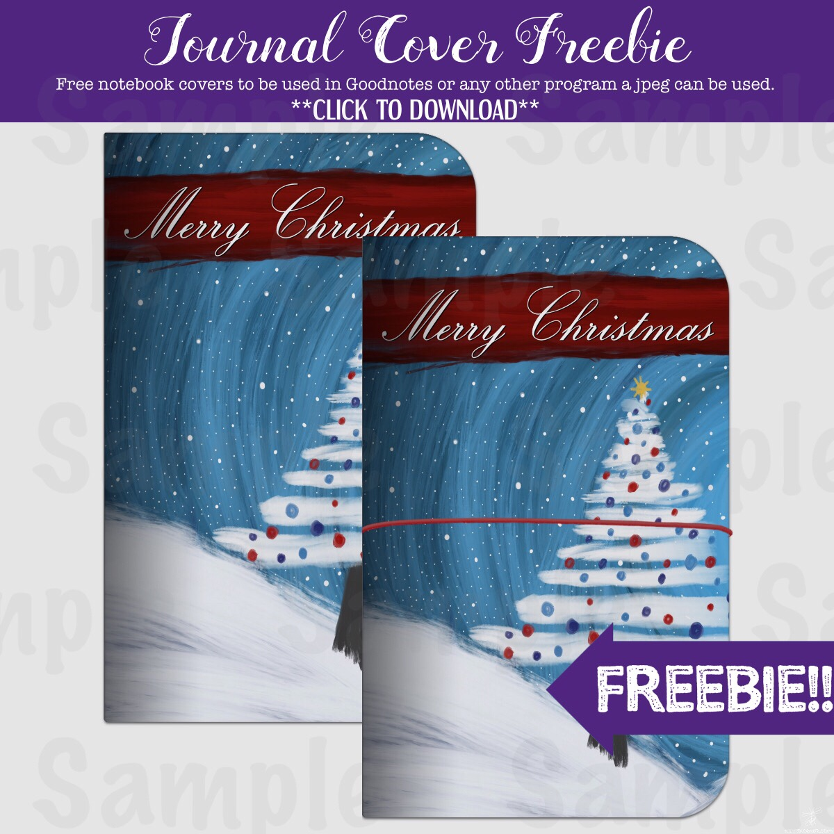 Freebie : Christmas Journal Cover (Goodnotes)