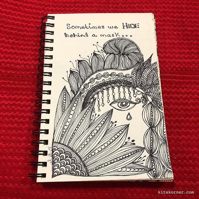 TBT : 2/18/2014 Sketchbook Zentagle Doodles