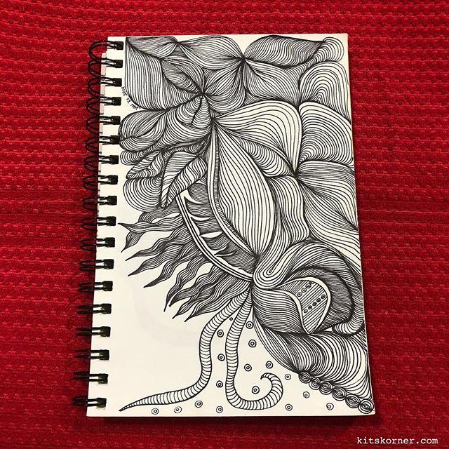 TBT : 2014 Sketchbook Zentagle Doodles 1/30/14