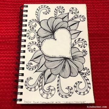 TBT : 2/14/2014 Sketchbook Zentagle Doodles