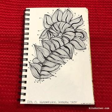 TBT : 2014 Sketchbook Zentagle Doodles 2/13/14