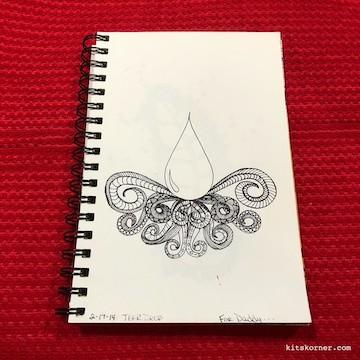 TBT : 2014 Sketchbook Zentagle Doodles 2/17/14