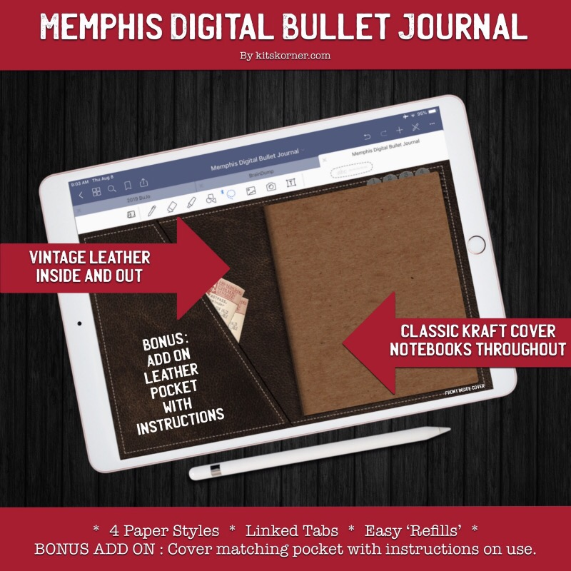 Memphis Digital Bullet Journal