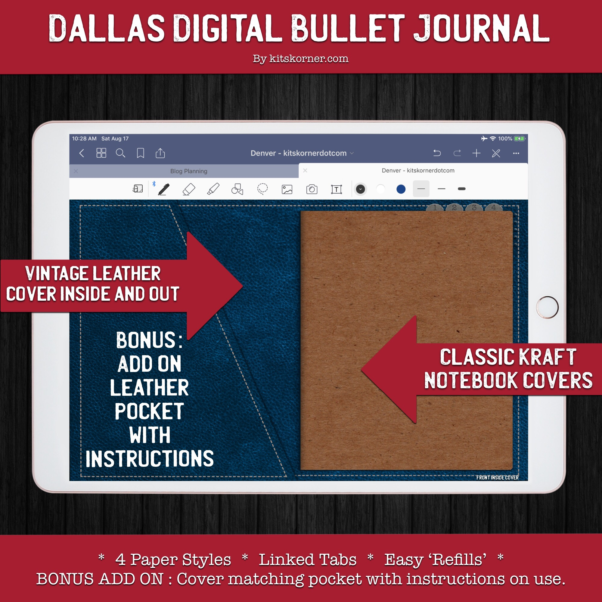 Dallas Digital Bullet Journal