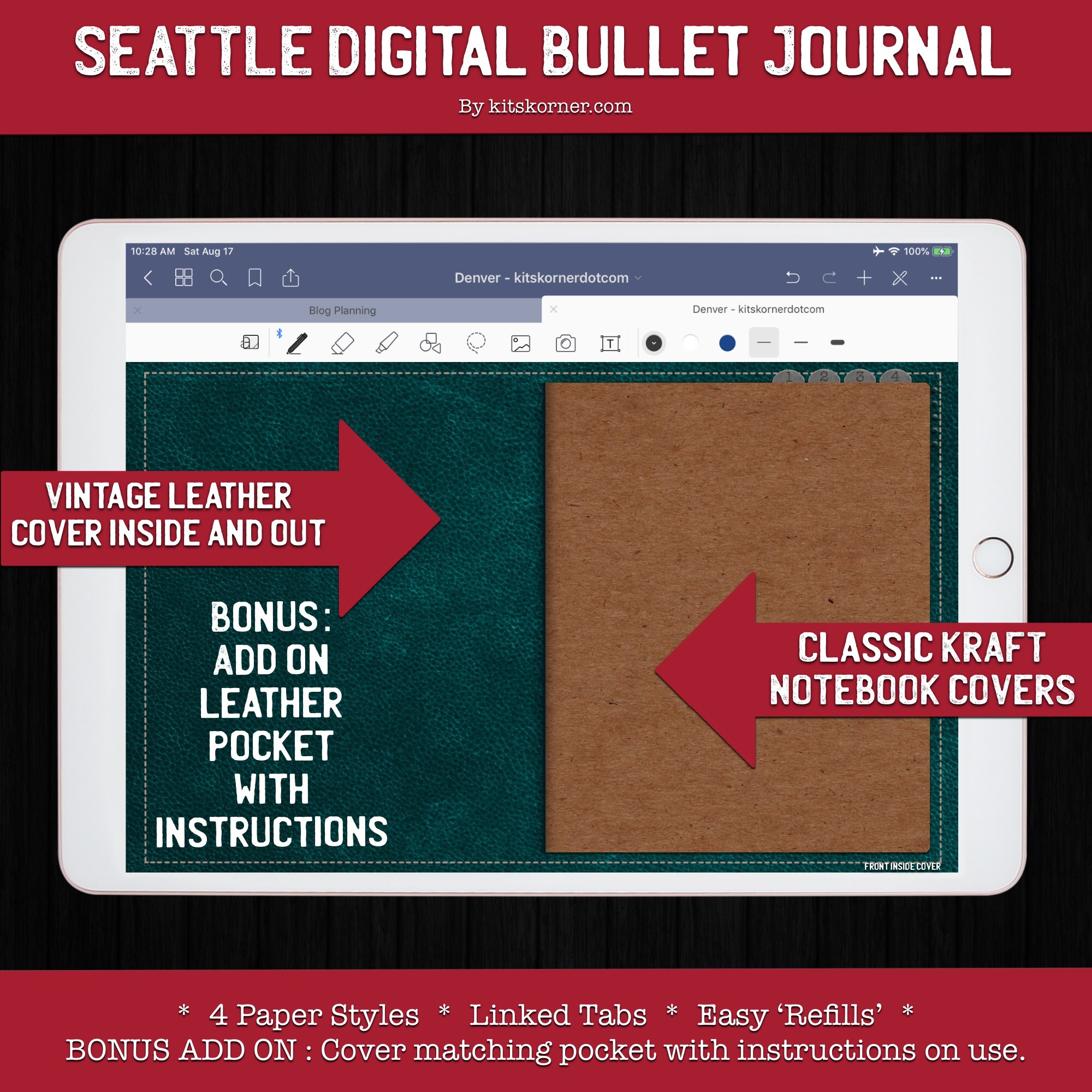 Seattle Digital Bullet Journal