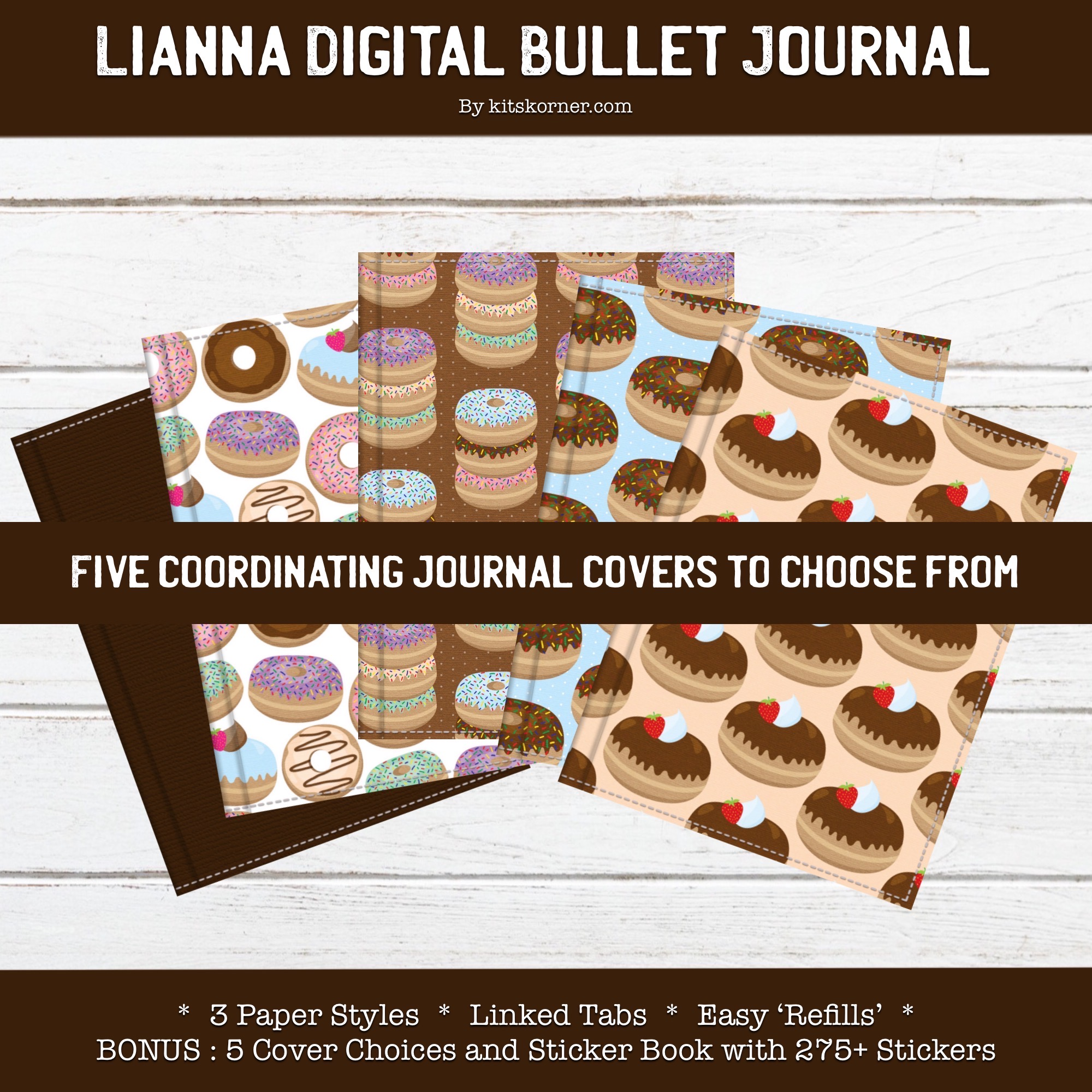 New : Lianna Digital Bullet Journal Set