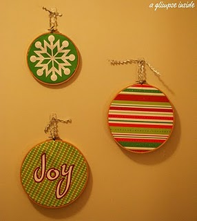 Embroidery Hoop Ornaments Tutorial