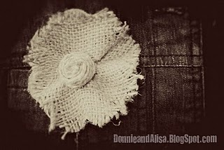 Fabric Flower #2 Burlap Tutorial