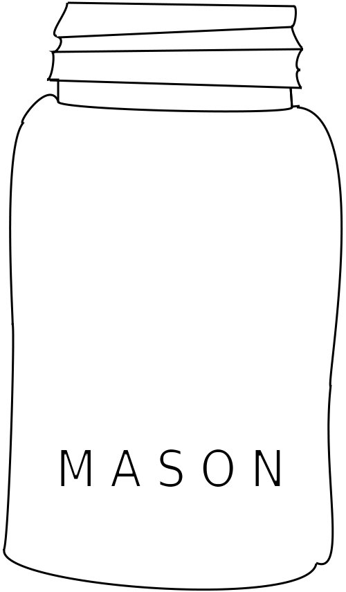Mason Jar Free Embroidery Pattern