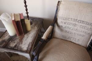 Wanna Be Restoration Hardware Burlap Chair Tutorial