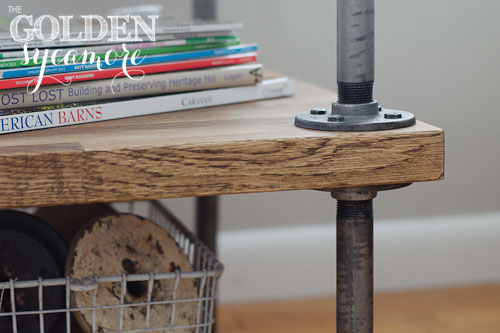 Industrial Side Table Knock Off Tutorial