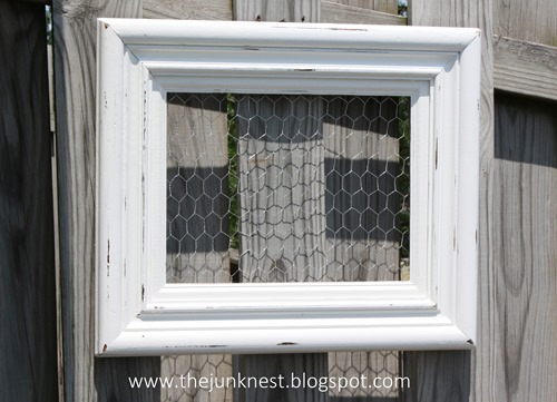 Chicken Wire Frame Storage Tutorial