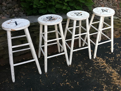 Inspiration Only : More Number Stools