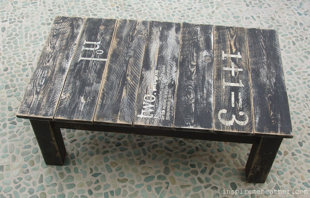 Stenciled Pallet Table Tutorial