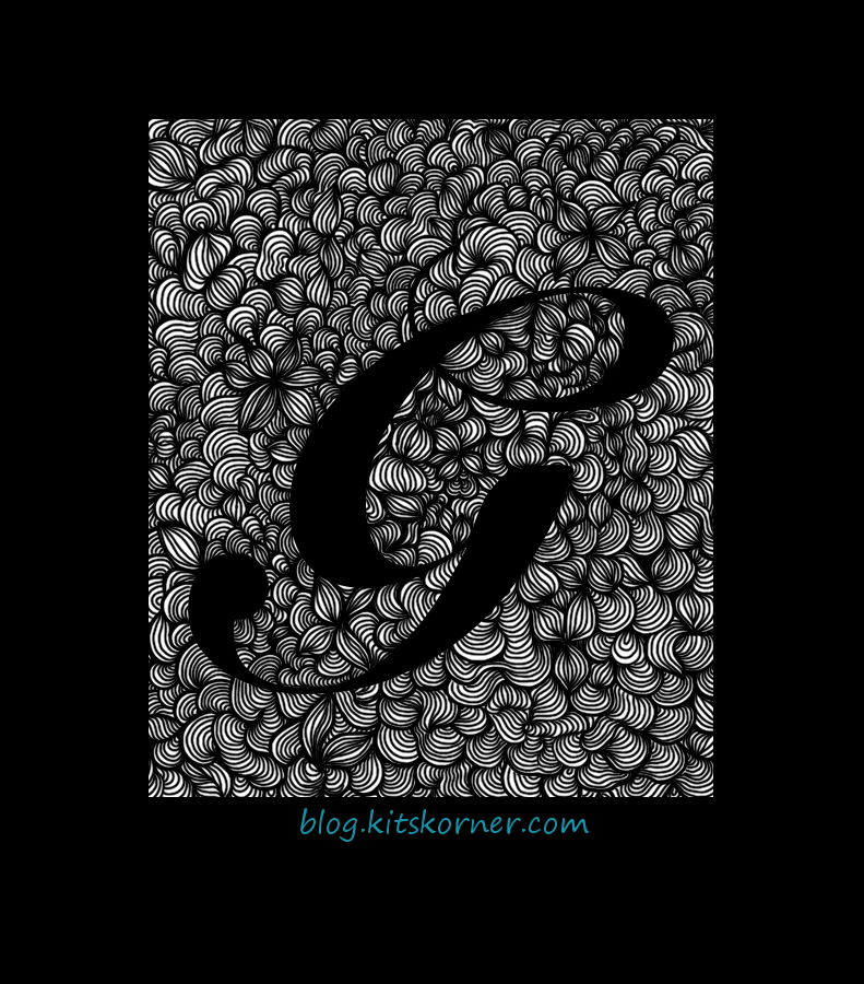 Digital Doodles : Initial G