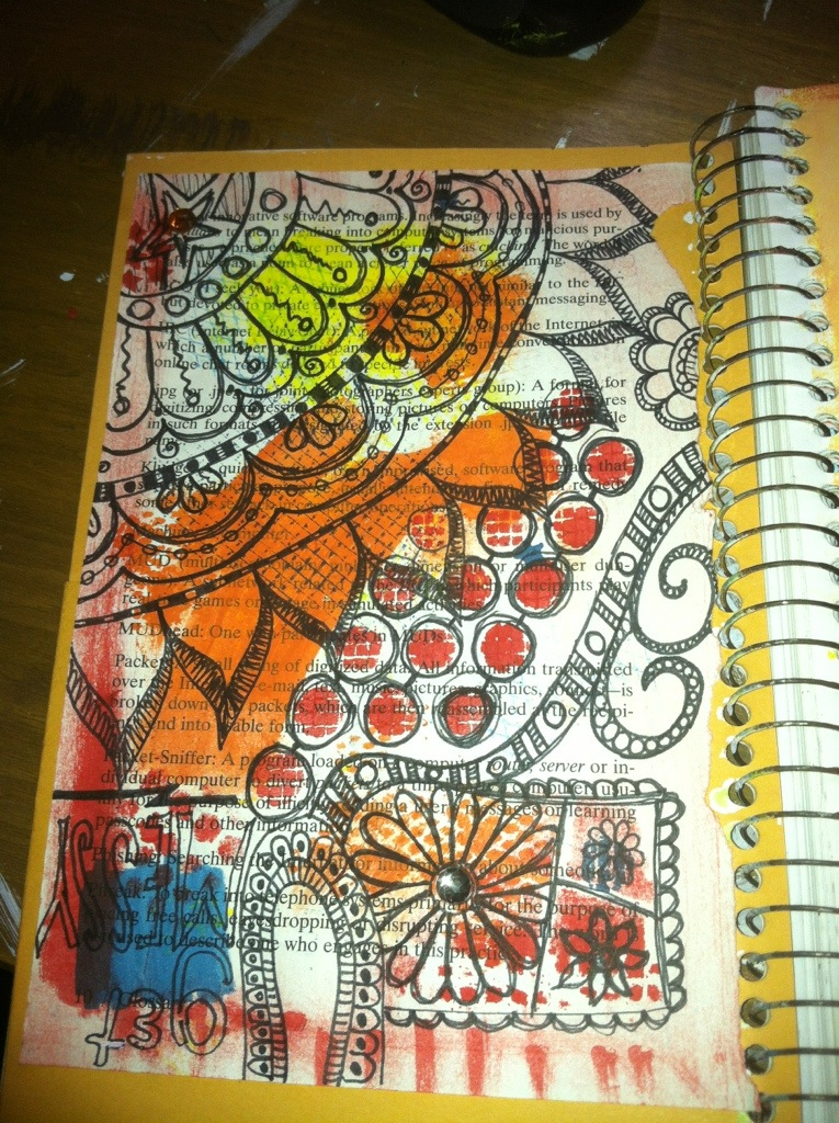 Get Messy : Art Journal Page