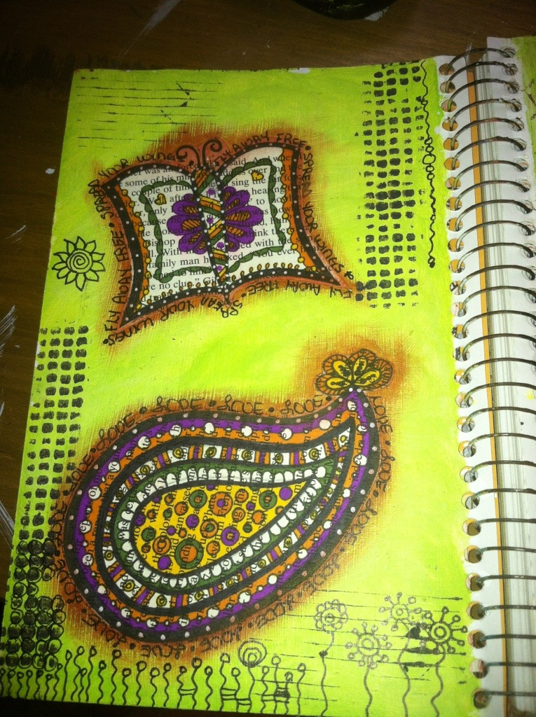 Paisley Doodles : Art Journal Page