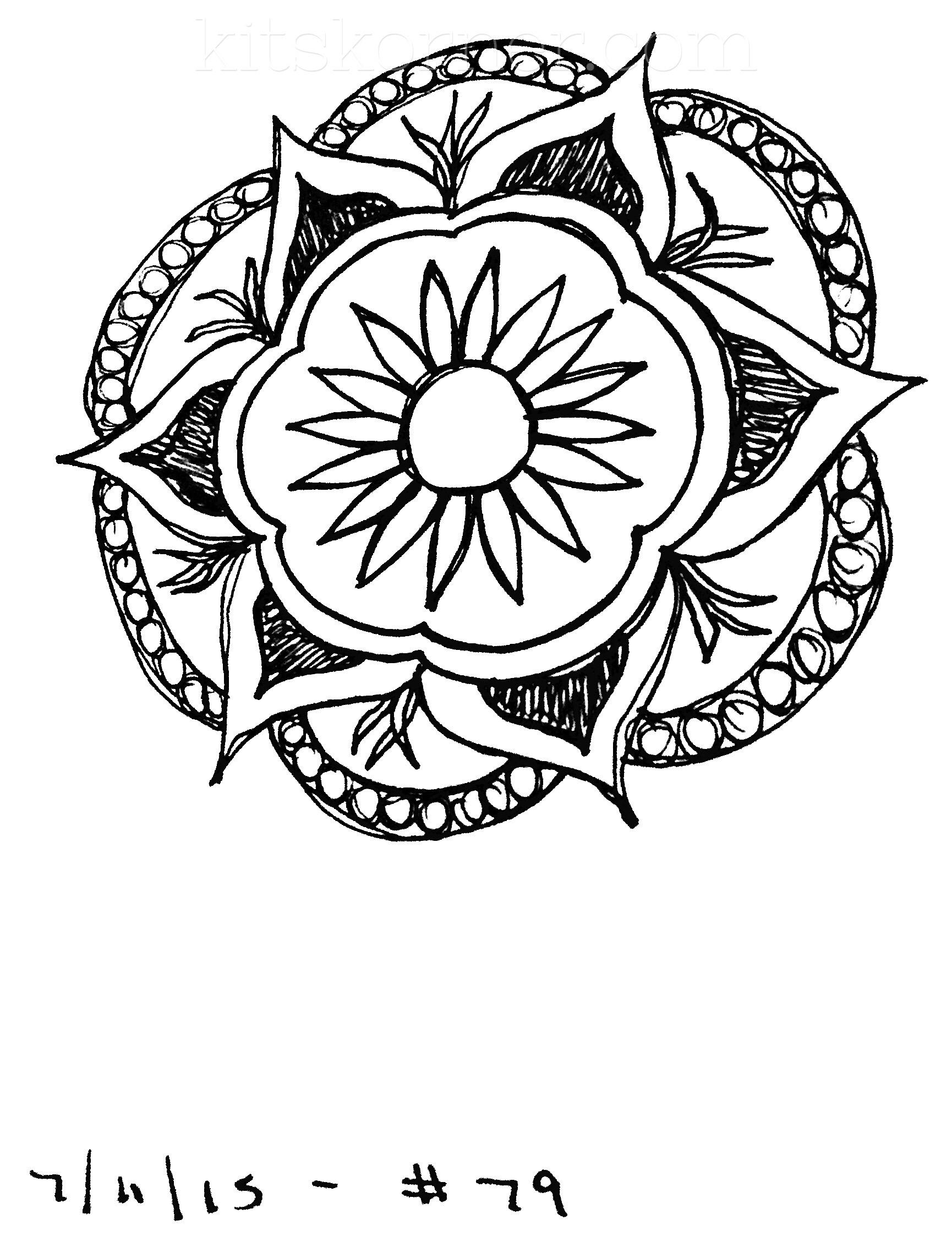 Sketchbook : 100 Mandalas Challenge Week 13