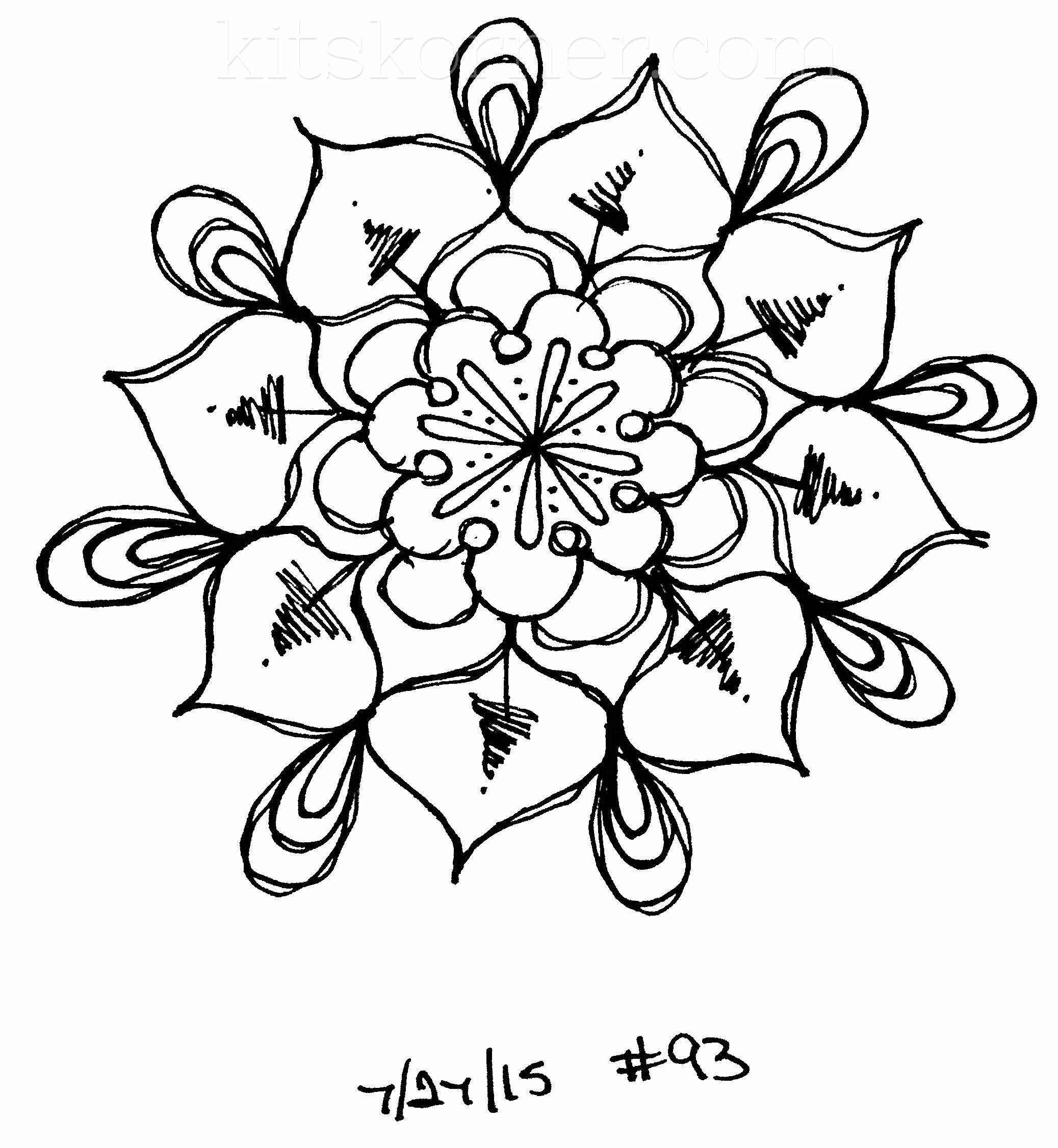Sketchbook : 100 Mandalas Challenge Week 15