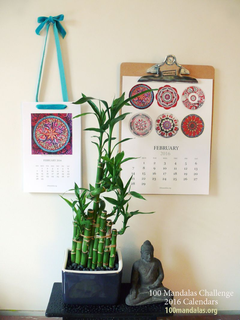 2016 100 Mandalas Calendar Is Available!